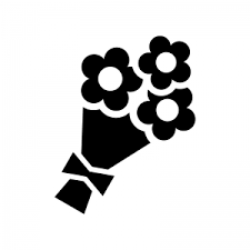 花束のシルエット 無料のaipng白黒シルエットイラスト