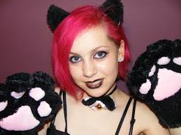 create a face painting inspired by the anime and cat s of an
