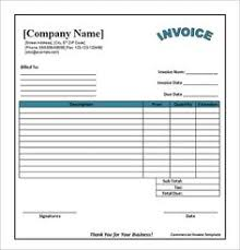 simple invoice templates printable free 17 best photos of printable commercial invoice sample business
