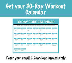 Fitness Workout Calendar Plan Core – Jumpcom.co – Template Ideas