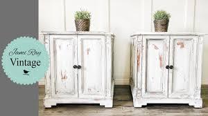 White furniture Distressed jamirayvintage jrv farmhouse Youtube How To Paint White Furniture Youtube