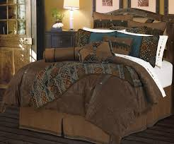 image of rustic chic bedding dark