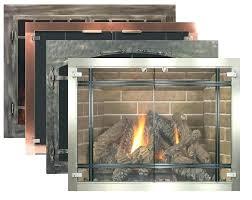 fireplace glass doors replacement insert screen wood lennox gas fireplac