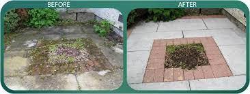patio cleaning concrete slab pressure
