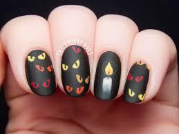Are You Afraid of the Dark? - Spooky Eyes Nail Art   Chalkboard ...