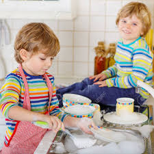 boys washing dishes. Brilliant Boys Stock Photo  Two Little Blond Twins Boys Washing Dishes In Domestic  Kitchen Children Having Fun With Helping Housework Indoors Siblings Colorful  Intended Boys Washing Dishes W