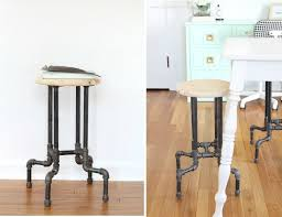 DIY Bar Stools  Built From Industrial Pipe Build Your Own Bar Stools L35
