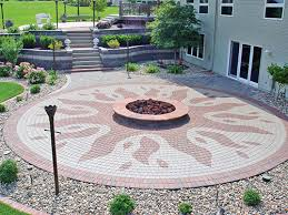 patio pavers with fire pit. The Retaining Walls Patio Pavers With Fire Pit