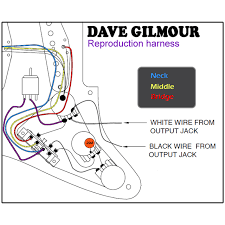 dave gilmour deluxe pre wired stratocaster wiring kit image 1 image 2