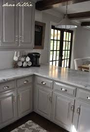 Interesting Painting Cherry Kitchen Cabinets White Darker Gray With Marble On Inspiration Decorating