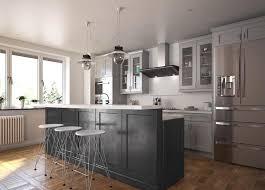 society shaker steel gray kitchen cabinets