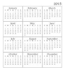 Free Downloadable Monthly Calendar 2015 2015 Monthly Calendar Template