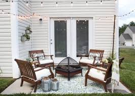patio decorating ideas. Plain Patio How To Decorate A Small Patio  Blesserhousecom  Utilize Small Patio  Space With Chairs At Each Corner And Fire Pit In The Middle For Function  With Decorating Ideas T