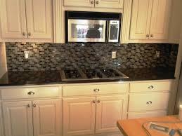 black granite tiled countertop