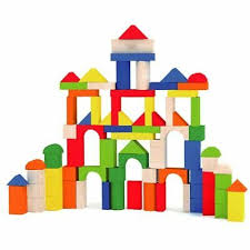 <b>80 Pcs</b> Solid Building Blocks Children's <b>Wood Toys Pieces</b> Toddler ...