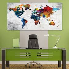 artwork for the office. Office World Map. Canvas Map P Artwork For The