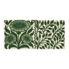 victorian oreton border green decorative tiles 75x152mm exterior use