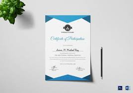 Certificate Of Participation Templates Sample Certificate Of Participation Templates Sample