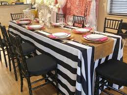 dining room table linens. kate spade theme table. weinhardt party rentals. table linensdining dining room linens