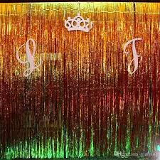 foil fringe curtain whole gold foil fringe curtain tinsel string shiny shimmer party wedding birthday door foil fringe curtain