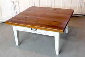 custom made rustic square farmhouse coffee table