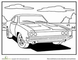 Small Picture Muscle Car Worksheet Educationcom