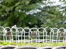 garden border fencing the white fairy garden border fence is in the park garden border fencing