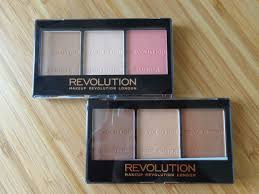makeup revolution ultra sculpt contour kits top ultra light bottom ultra
