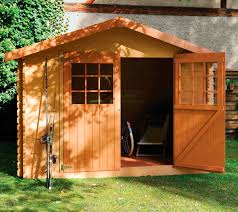 wooden tool shed traditional
