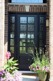 doors inspiring wooden front doors with glass beveled glass exterior doors and greenery on pot