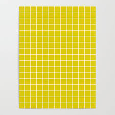 Citrine Green Color White Lines Grid Pattern Poster By Makeitcolorful