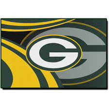 nfl green bay packers 39 x 59 rug sports fan green bay packers bathroom rug
