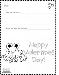 Valentines Day Letter Template Valentines Day Letter Template For Kids Valentines Day Cards