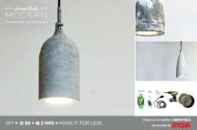 picture of homemade modern concrete pendant lamp light diy concrete pendant light