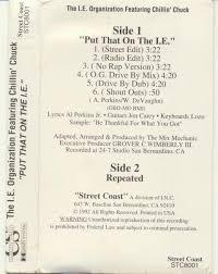 dogg steppin independent label rap cassettes southern chillin chuck n da i e mob put that on the i e san bernardino 92