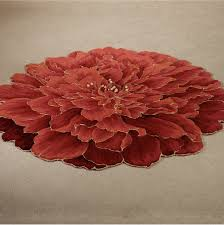 perfect flower shaped area rugs 5