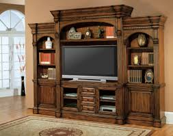 Furniture: Elegant Family Room Design With Antique Entertainment ...