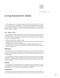 Annex B Using Assessment Tables Safety Management Systems For