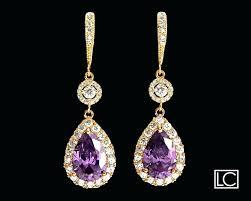 purple chandelier earrings amethyst crystal gold chandelier earrings free us ship purple gold earrings amethyst teardrop purple chandelier earrings