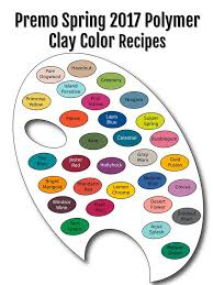 Premo Brand Polymer Clay Color Recipe Ebook For Spring