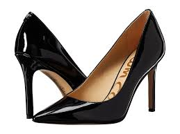 sam edelman women heels hazel black patent available in variety of leather suede and textile uppers