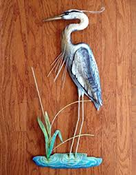 >cheap heron metal sculpture find heron metal sculpture deals on  get quotations wall art blue heron wall sculpture metal with capiz shell accents coastal wall
