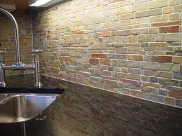 Natural Stone Kitchen Floor Slate Backsplash Falling Water Kitchen Backsplash Design