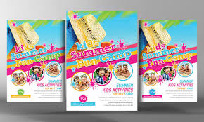 Summer Camp Flyer Template Kids Summer Camp Flyer Template Flyer Templates Creative Market 1