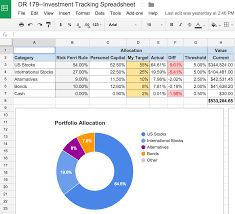 Tracking Tools In Excel An Awesome And Free Investment Tracking Spreadsheet