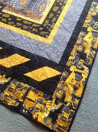 Connor's Caterpillar Heavy Hauler Truck Construction Quilt ... & construction-quilt,caterpillar heavy hauler quilt, truck quilt, sewing, quilting, Adamdwight.com