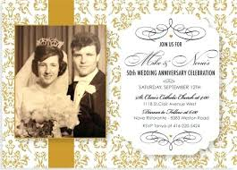 Invitation For 50th Wedding Anniversary Wedding Anniversary Party