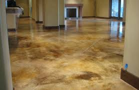 diy concrete staining concrete floors indoors