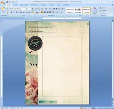 Word Background Template Letterhead Template In Microsoft Word Cxc Pinterest Cover