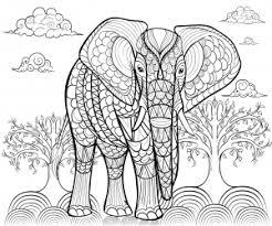 Vor allem kinder lieben malvorlagen. Mandala Elefant Malbuch Fur Erwachsene
